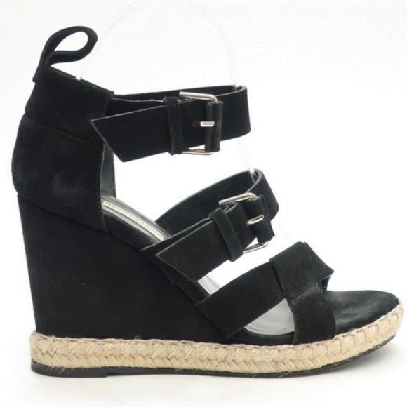 bc4eb7fe5336 Balenciaga Shoes - Balenciaga Espadrille Wedge Sandal Suede